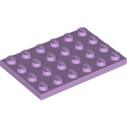 LEGO part 3032 Plate 4 x 6 in Lavender