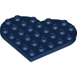 LEGO part  Plate Angled 6 x 6 Heart Shape in Earth Blue/ Dark Blue