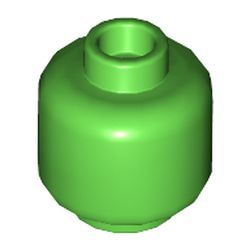 LEGO part 3626c Minifig Head Plain [Hollow Stud] in Bright Green