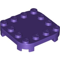 LEGO part 66792 Plate Round Corners 4 x 4 x 2/3 Circle with Reduced Knobs in Medium Lilac/ Dark Purple