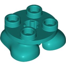 LEGO part 66858 Feet, 2 x 2 x 2/3 with 4 Studs on Top in Bright Bluish Green/ Dark Turquoise
