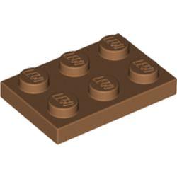 LEGO part 3021 Plate 2 x 3 in Medium Nougat
