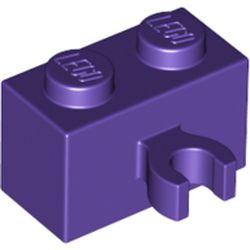 LEGO part 42925 Brick Special 1 x 2 with Vertical Clip [Open O Clip] in Medium Lilac/ Dark Purple