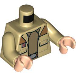 LEGO part 76382 MINI UPPER PART, NO. 5437, Tan Arms, Light Flesh Hands in Brick Yellow/ Tan
