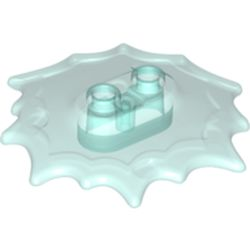 LEGO part 73304 Plate Special, Wave / Power Burst / Flame, with Two Studs in Transparent Light Blue/ Trans-Light Blue