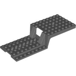 LEGO part 64954 Vehicle, Trailer / Base Half 6 x 16 x 2 2/3 in Dark Stone Grey / Dark Bluish Gray
