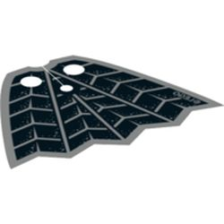 LEGO part upn0457pr0001 Neckwear Cape with Spider Webs print in Black