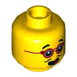 LEGO part 3626cpr3522 MINI HEAD, NO. 3522 in Bright Yellow/ Yellow