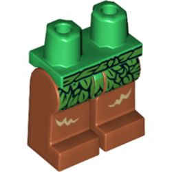 LEGO part 970x028pr2053 Legs and Green Hips with Green Leaf Skirt Print in Dark Orange