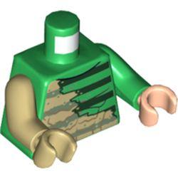 LEGO part 76382 MINI UPPER PART, NO. 5441 in Dark Green/ Green