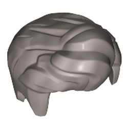 LEGO part 76925 Minifig Hair, Front Quiffed Right in Silver Metallic/ Flat Silver
