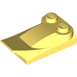 LEGO part 47456 Wedge Curved 2 x 3 x 2/3 Two Studs, Wing End in Cool Yellow/ Bright Light Yellow