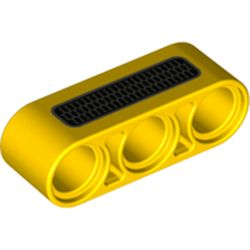 LEGO part 76933 Technic Beam 1 x 3 Thick with Grill print in Bright Yellow/ Yellow