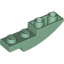 LEGO part  Slope Curved 4 x 1 Inverted in Sand Green