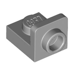 LEGO part 36840 Bracket 1 x 1 - 1 x 1 Inverted in Medium Stone Grey/ Light Bluish Gray
