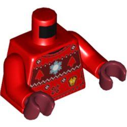 LEGO part 973c22h10pr5476 MINI UPPER PART, NO. 5476 in Bright Red/ Red
