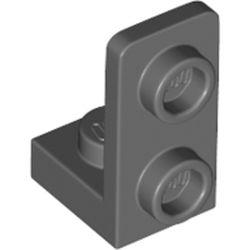 LEGO part 73825 Bracket 1 x 1 - 1 x 2 Inverted in Dark Stone Grey / Dark Bluish Gray