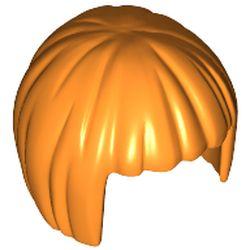LEGO part  Minifig Hair Short Bob Cut in Bright Orange/ Orange
