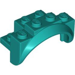 LEGO part 35789 Mudguard 2 x 4 x 2 in Bright Bluish Green/ Dark Turquoise