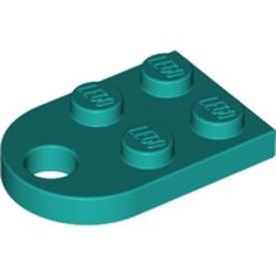 LEGO part 3176 Plate Special 3 x 2 with Hole in Bright Bluish Green/ Dark Turquoise