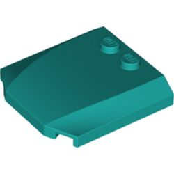 LEGO part 45677 Slope Curved 4 x 4 x 2/3 Triple Curved with 2 Studs in Bright Bluish Green/ Dark Turquoise