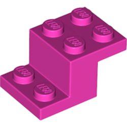 LEGO part 18671 Bracket 3 x 2 x 1 1/3 in Bright Purple/ Dark Pink
