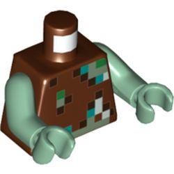 LEGO part 76382 MINI UPPER PART, NO. 5490 in Reddish Brown