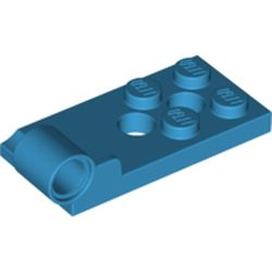 LEGO part 43056 Hinge Plate 2 x 4 with Pin Hole with 2 Holes - Bottom in Dark Azure