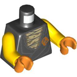 LEGO part 76382 MINI UPPER PART, NO. 5459 in Black