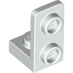 LEGO part 73825 Bracket 1 x 1 - 1 x 2 Inverted in White