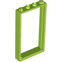 LEGO part 60596 Door Frame 1 x 4 x 6 Type 2 in Bright Yellowish Green/ Lime