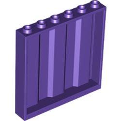 LEGO part 23405 Panel 1 x 6 x 5 [Vertical Corrugated] in Medium Lilac/ Dark Purple