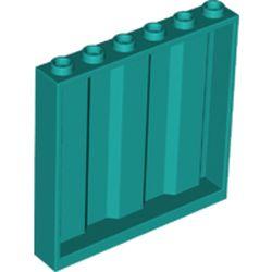 LEGO part 23405 Panel 1 x 6 x 5 [Vertical Corrugated] in Bright Bluish Green/ Dark Turquoise