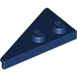 LEGO part  Wedge Plate 2 x 4 27° Right in Earth Blue/ Dark Blue