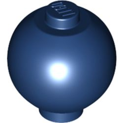 LEGO part  Brick Round 2 x 2 Sphere with Stud [Plain] in Earth Blue/ Dark Blue
