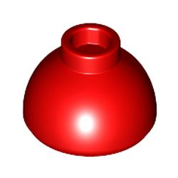 LEGO part 37840 Brick Round 1.5 x 1.5 Dome Top [Plain] in Bright Red/ Red