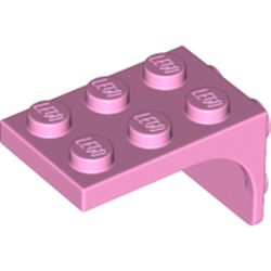 LEGO part 69906 Bracket 2 x 3 - 2 x 2, Curved Sides in Light Purple/ Bright Pink
