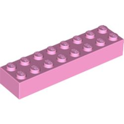 LEGO part 93888 Brick 2 x 8 in Light Purple/ Bright Pink