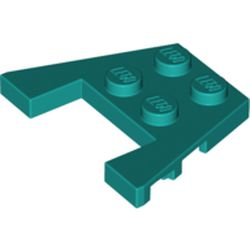 LEGO part 90194 Wedge Plate 3 x 4 with Stud Notches [Reinforced Underside] in Bright Bluish Green/ Dark Turquoise