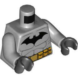LEGO part 76382 MINI UPPER PART, NO. 5508 in Medium Stone Grey/ Light Bluish Gray