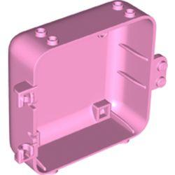 LEGO part 64454 Pod, Square 3 x 8 x 6 2/3 [Female] in Light Purple/ Bright Pink