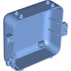 LEGO part 64454 Pod, Square 3 x 8 x 6 2/3 [Female] in Medium Blue