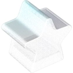 LEGO part 72134 Dupo Brick Special 2 x 2 x 2, Star in Transparent with Opalescence/ Satin Trans-Clear