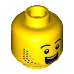 LEGO part 3626cpr3528 MINI HEAD, NO. 3528 in Bright Yellow/ Yellow