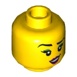 LEGO part 3626cpr3536 MINI HEAD, NO. 3536 in Bright Yellow/ Yellow