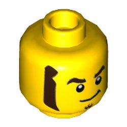 LEGO part 3626cpr3533 MINI HEAD, NO. 3533 in Bright Yellow/ Yellow