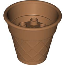 LEGO part 15577 Duplo Ice Cream Cone 4 x 4 x 3 in Medium Nougat