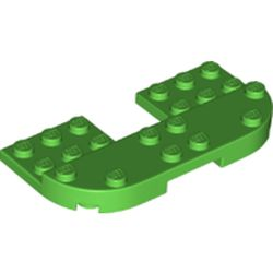 LEGO part 73832 Plate Round Corners 4 x 8 x 2/3 Half Circle with Reduced Knobs in Bright Green
