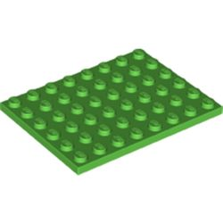 LEGO part 3036 Plate 6 x 8 in Bright Green