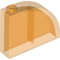 LEGO part 65734 Brick Curved 1 x 4 x 3 in Transparent Bright Orange/ Trans-Orange
